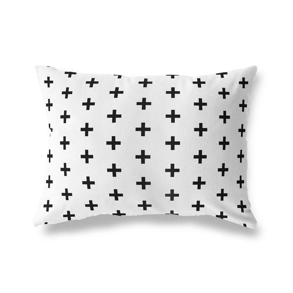 CRISS CROSS WHITE Lumbar Pillow By Kavka Designs