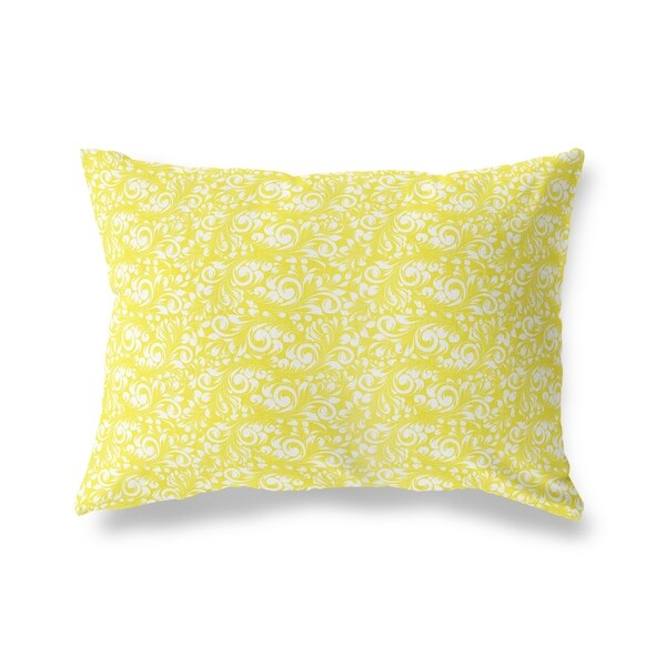 PLUMERIA YELLOW Lumbar Pillow By Kavka Designs