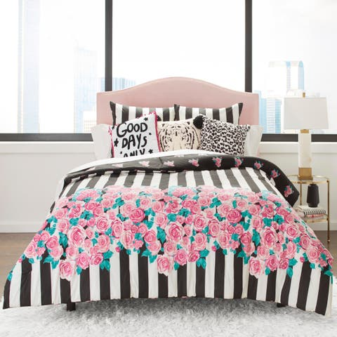 Betsey Johnson Romantic Roses Cotton Comforter Set
