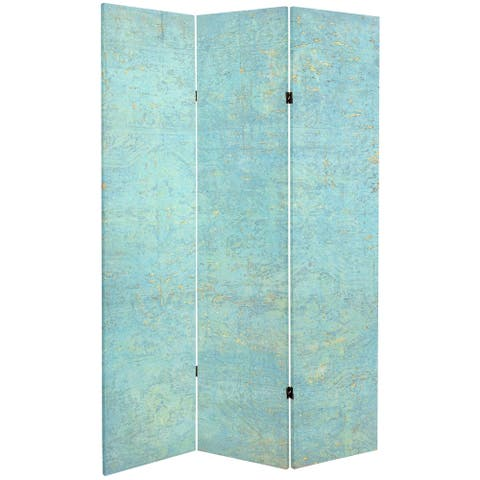 Handmade 6' Double Sided Voice of the Sky Canvas Room Divider