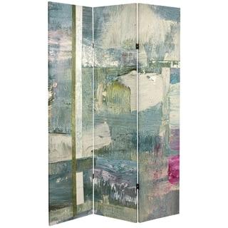 Handmade 6' Canvas Mineral Smoke Room Divider