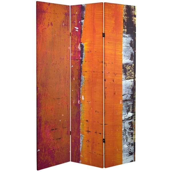 Handmade 6' Canvas Autumn Woods Room Divider