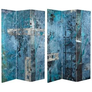 Handmade 6' Canvas Blue Dream Room Divider