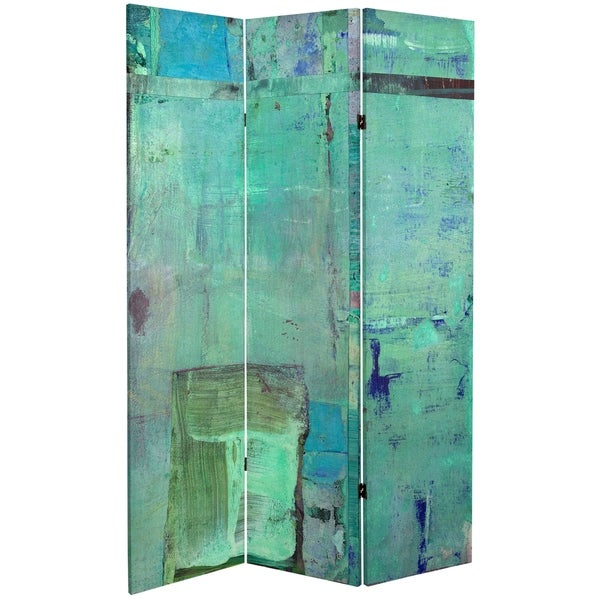 6 ft. Tall Double Sided Aurora Canvas Room Divider