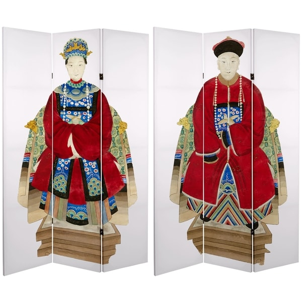 Handmade 6' Canvas Chinese Emperor Room Divider