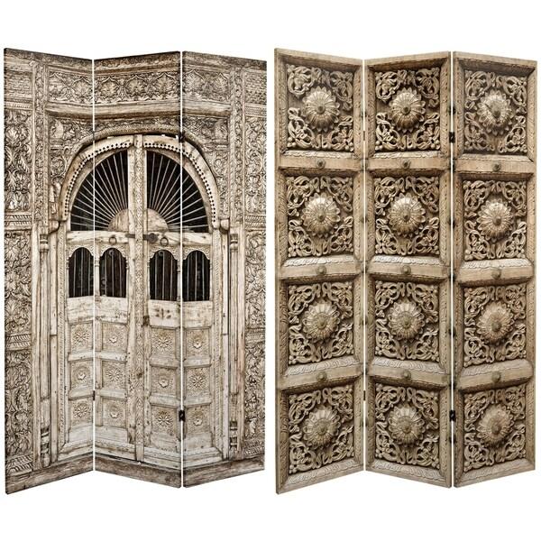 Handmade 6' Canvas Stone Doorway Room Divider