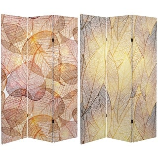 Handmade 6' Canvas Ethereal Leaves Room Divider