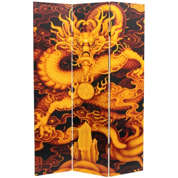 Handmade 6' Dragon Fire on the Mountain Room Divider