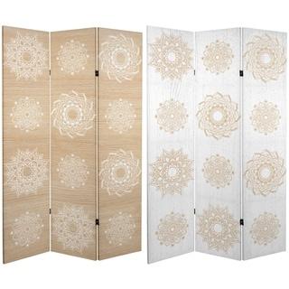 Handmade 6' Canvas Mandala on Birch Room Divider