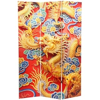 Handmade 6' Traditional Chinese Emperor Dragon Room Divider