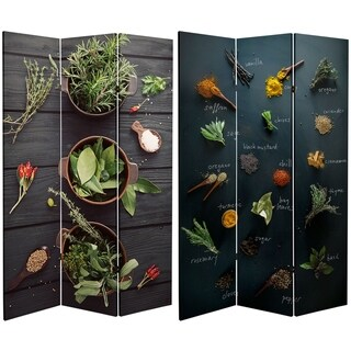 Handmade 6' Canvas Herbs and Spices Room Divider