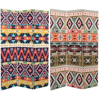 Handmade 6' Canvas Ikat Room Divider