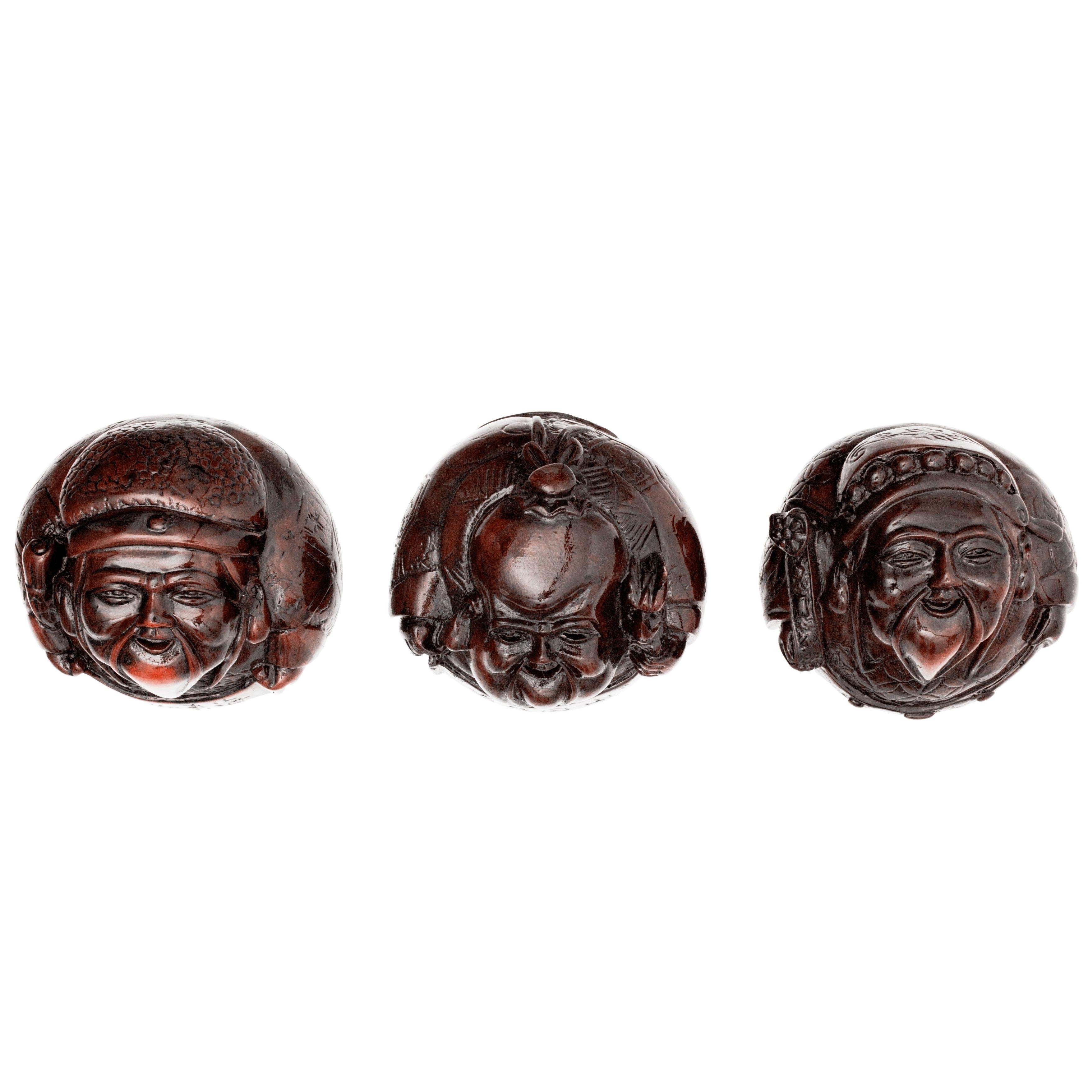 Three Immortals Set of Three Statues
