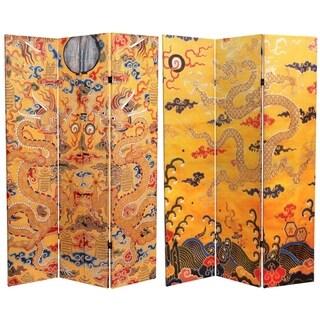 Handmade 6' Yellow Emperor's Dragon Room Divider