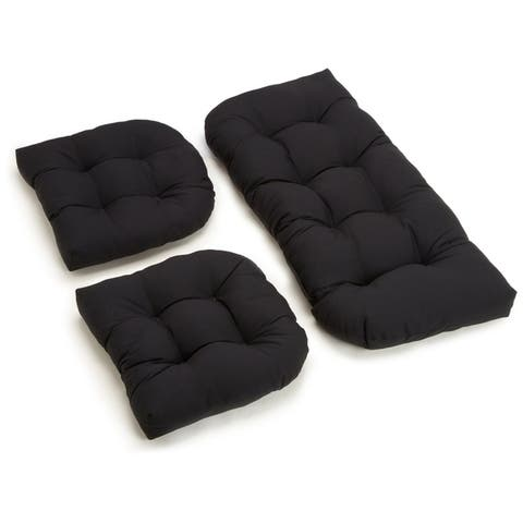 Porch & Den Amicus 3-piece Indoor Settee Cushion Set