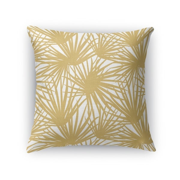 PALM BALM GOLD AND WHITE Accent Pillow By Kavka Designs