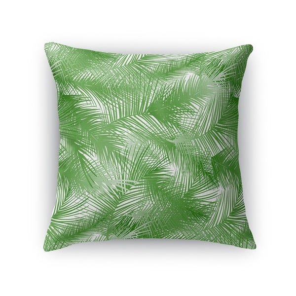 PALM CHEER GREEN ON WHITE Accent Pillow By Kavka Designs