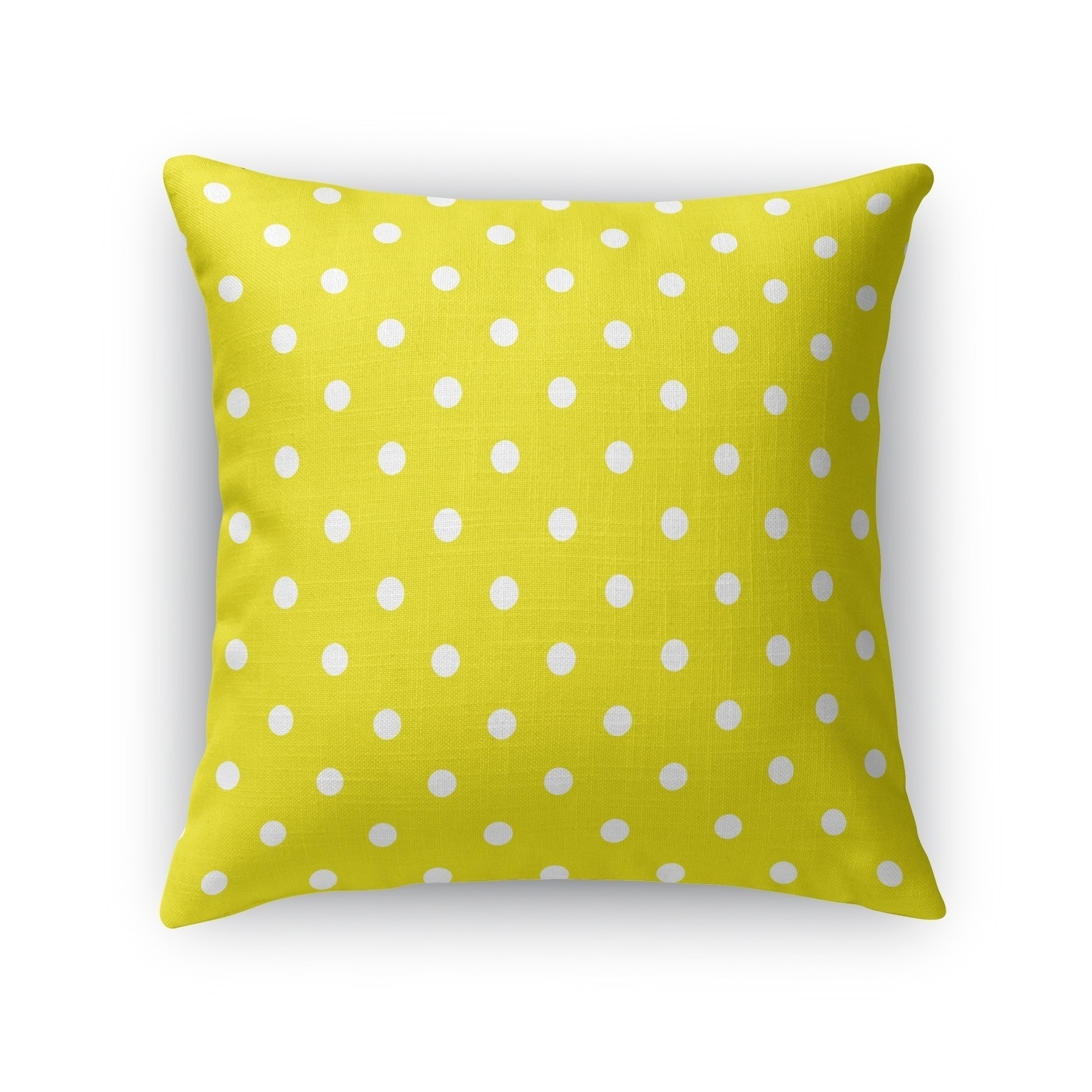 Polka Dots Yellow Accent Pillow By Kavka Designs Overstock 28250165
