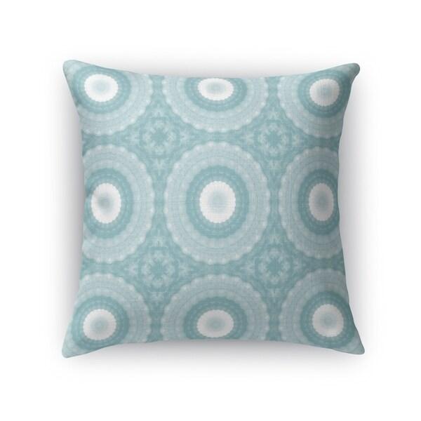 SHELL MANDALAS TEAL Accent Pillow By Kavka Designs