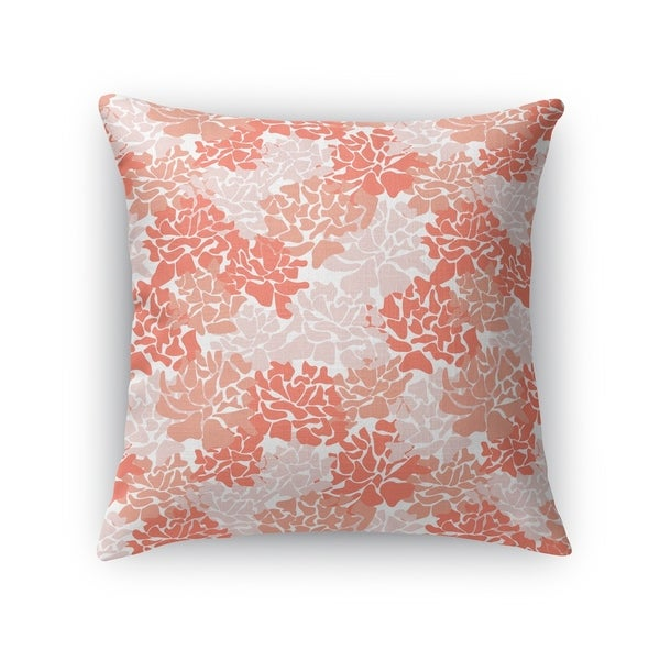 PEONIES CORAL Accent Pillow By Kavka Designs