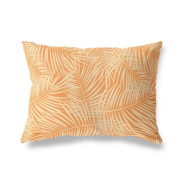 PALM PLAY ORANGE Lumbar Pillow By Kavka Designs