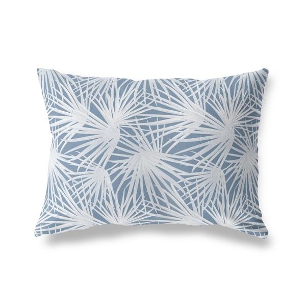 PALM BALM BLUE Lumbar Pillow By Kavka Designs