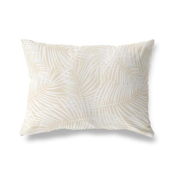 PALM PLAY OATMEAL Lumbar Pillow By Kavka Designs