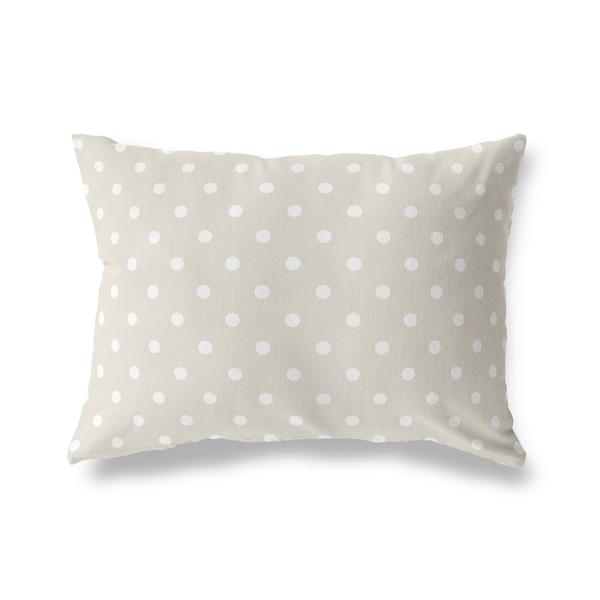 POLKA DOTS WHEAT Lumbar Pillow By Kavka Designs