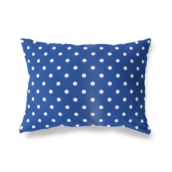POLKA DOTS BLUE Lumbar Pillow By Kavka Designs