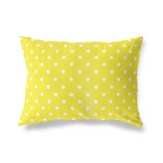 POLKA DOTS YELLOW Lumbar Pillow By Kavka Designs