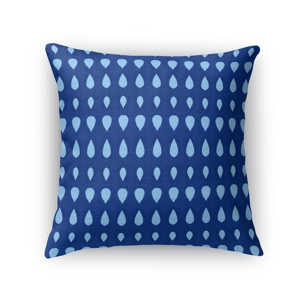 CYANOTYPE TEARDROPS Accent Pillow By Kavka Designs