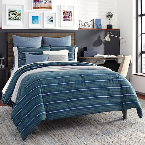 Nautica Jean Co Claridge Navy Cotton Duvet Cover Set