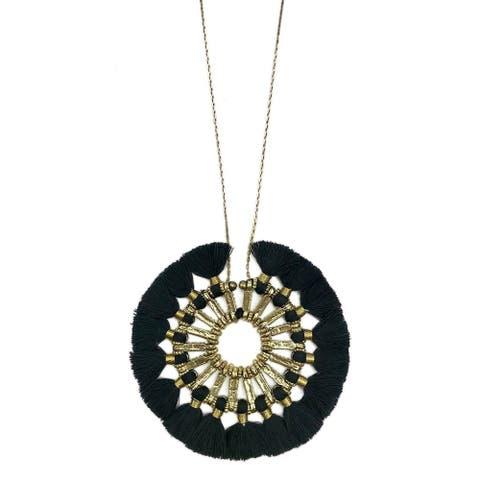 Handmade Tassel Halo Necklace (India)