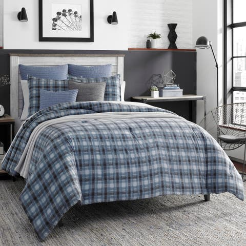 Nautica Pinecrest Charcoal Cotton Duvet Cover Set
