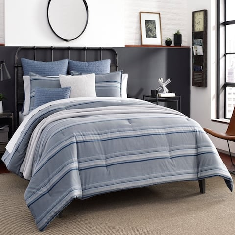 Nautica Jeans Co Eastbury Grey Cotton Duvet Cover Set