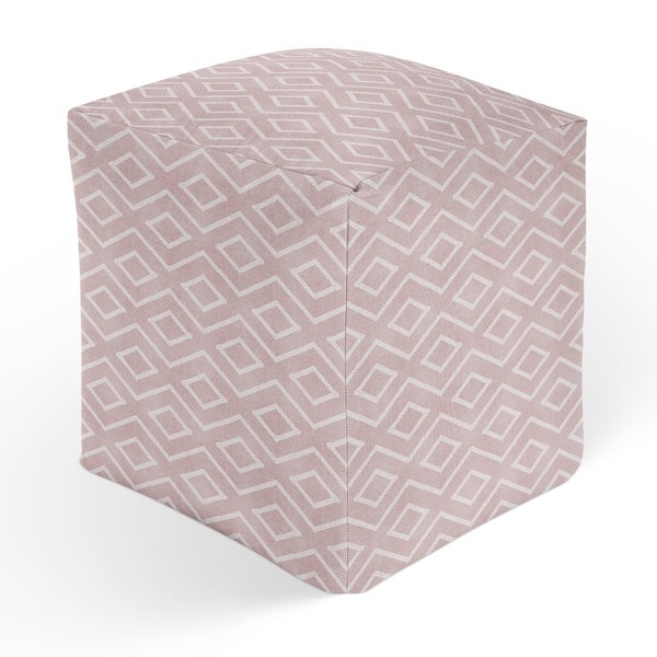 INCA TRIBAL PINK Square Pouf By Kavka Designs