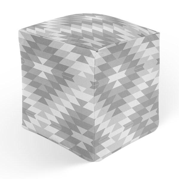 SAN PEDRO GREY Square Pouf By Kavka Designs