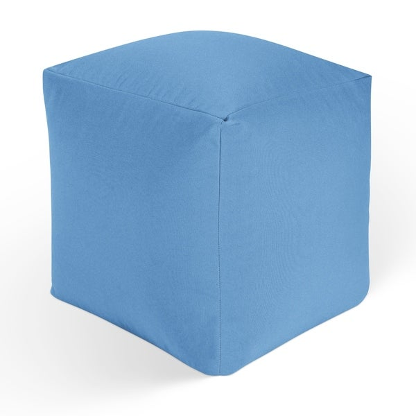 Shop BLUE DREAM Square Pouf By Kavka Designs - Free Shipping