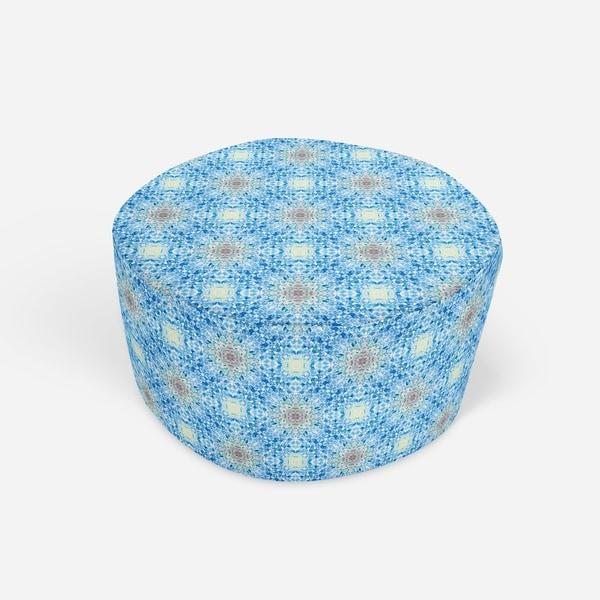 PORTO MOSAIC Round Pouf By Kavka Designs
