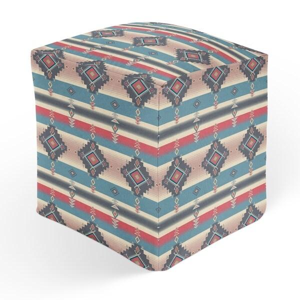 ESCOBAR BLUE Square Pouf By Kavka Designs