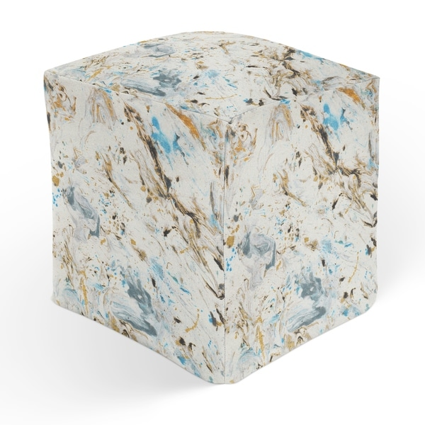 MARBLED Square Pouf By Kavka Designs