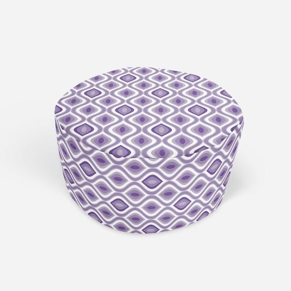 YE PURPLE Round Pouf By Kavka Designs