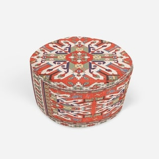 STAR KAZAK RUST Round Pouf By Kavka Designs