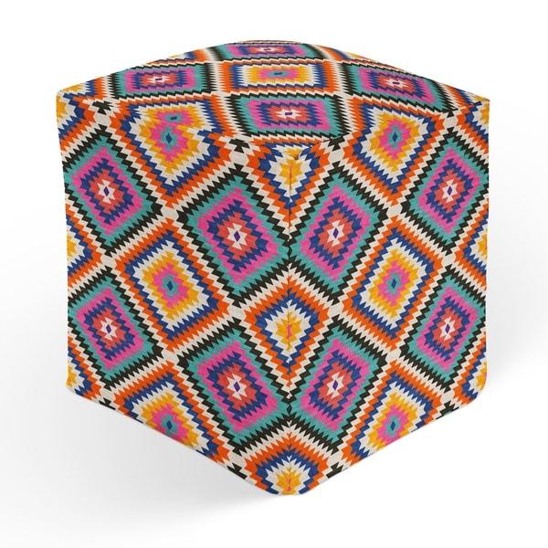 DAKHA TEAL Square Pouf By Kavka Designs