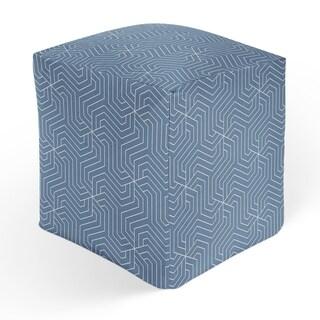 BRICKLE BLUE Square Pouf By Kavka Designs