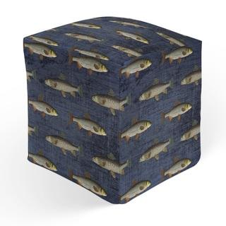 FISH Square Pouf By Kavka Designs