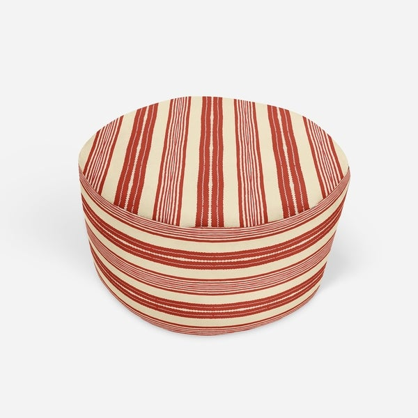 LANGOSTA RED Round Pouf By Kavka Designs