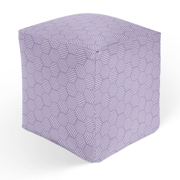 ATHENA PURPLE Square Pouf By Kavka Designs