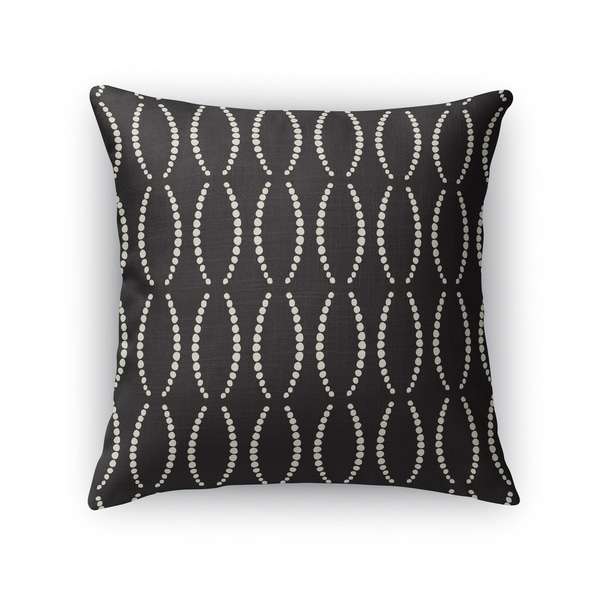 BEADS BLACK Indoor|Outdoor Pillow By Kavka Designs