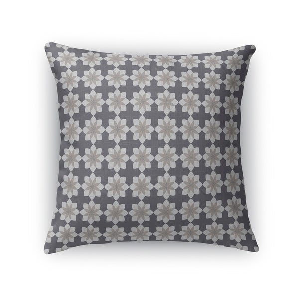 FLOWERETTE GREY Indoor Outdoor Pillow By Kavka Designs